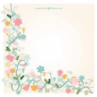 Vintage Floral Background Free Vector