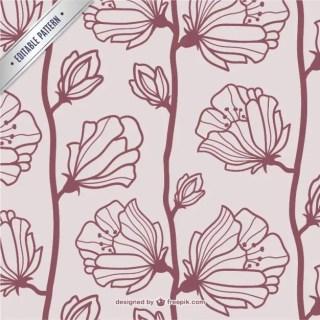 Vintage Floral Pattern Free Vector