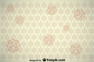 Vintage Flower Background Design Free Vector