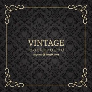 Vintage Frame Background Free Vector
