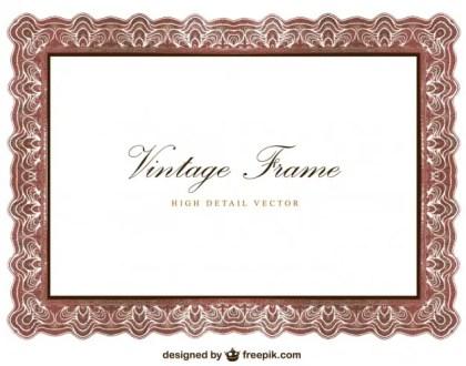 Vintage Frame Design Free Vector