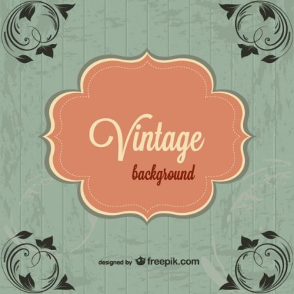 Vintage Free Floral Corners Background Free Vector