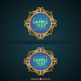 Vintage Golden Frames Design Free Vector