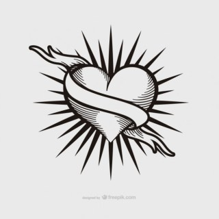 Vintage Heart Tattoo Design Free Vector