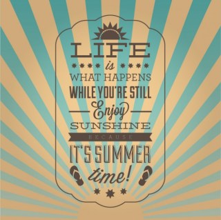 Vintage Inspirational Summer Poster Free Vector