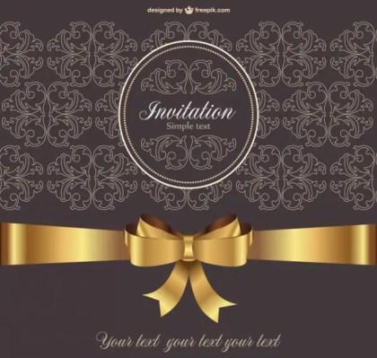 Vintage Invitation Free Vector