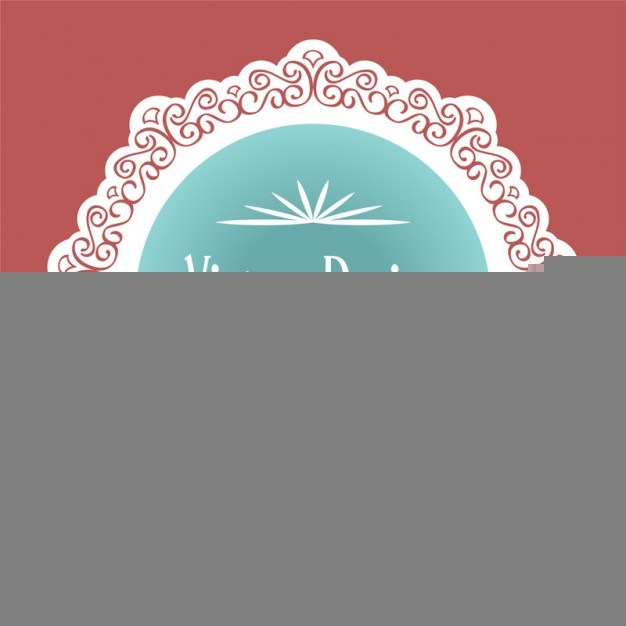 Vintage Lace Label Design Free Vector