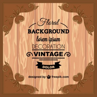 Vintage Wood Texture Greeting Card Free Vector