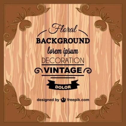 Vintage Wood Texture Greeting Card Free Vector