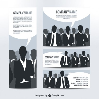 Visual Identity Set Business People Design Free Vector