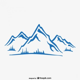Wallpaper of Mountain Ink Free Vector