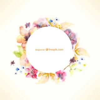 Watercolor Floral Art Free Vector