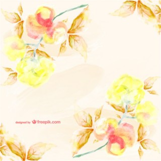 Watercolor Floral Card Stylish Design Free Vector