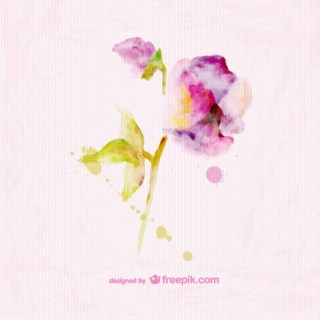 Watercolor Floral Paper Texture Card Design Free Vector