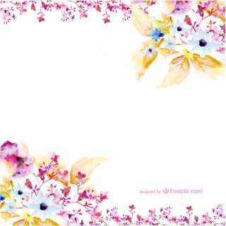 Watercolor Flowers Art Free Vector