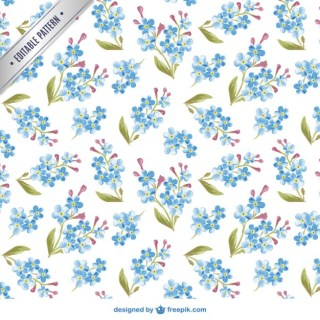 Watercolor Flowers Pattern Free Vector