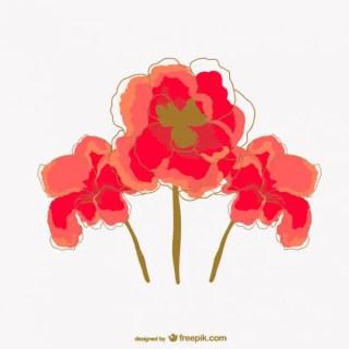 Watercolor Poppy Flower Free Vector