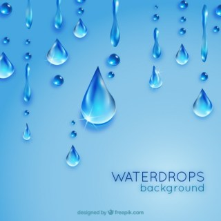 Waterdrops Background Free Vector