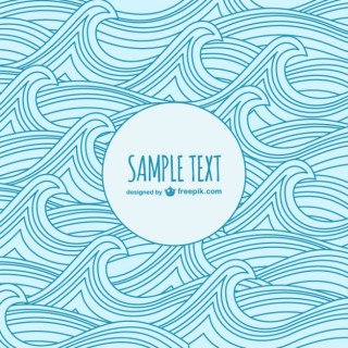 Waves Sketch Template Free Vector