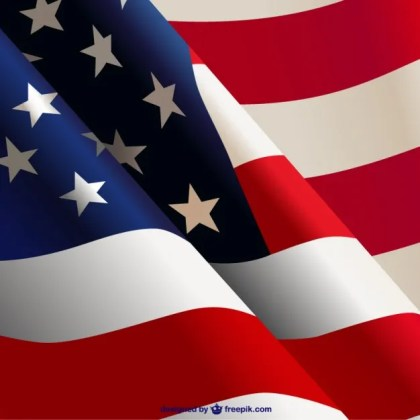 Waving American Flag Free Vector