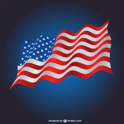 Waving Usa Flag Template Free Vector