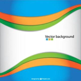 Wavy Abstract Free Vector