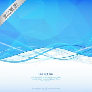 Wavy Background in Blue Tones Free Vector