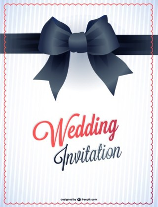 Wedding Printable Card Invitation Free Vector