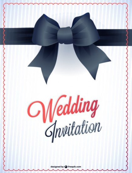 Wedding Printable Card Invitation Free Vector