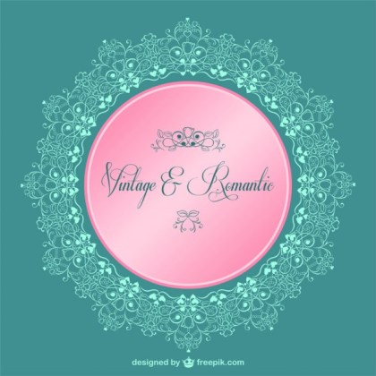 Wedding Vintage Floral Frame Free Vector
