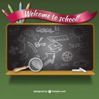 Welcome to School Blackboard Free Vector