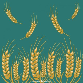 Wheat Crop Icons Free Vector