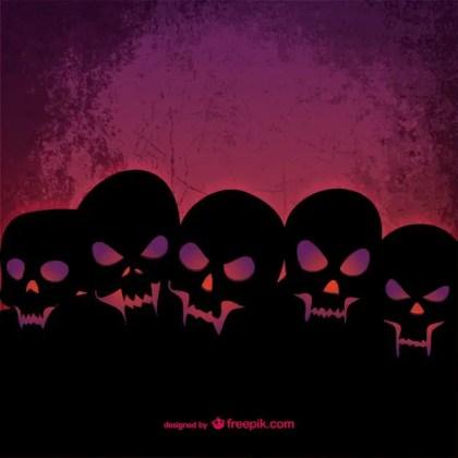 Wicked Skulls Template Free Vector