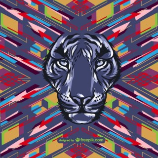 Wild Animal Design Free Vector