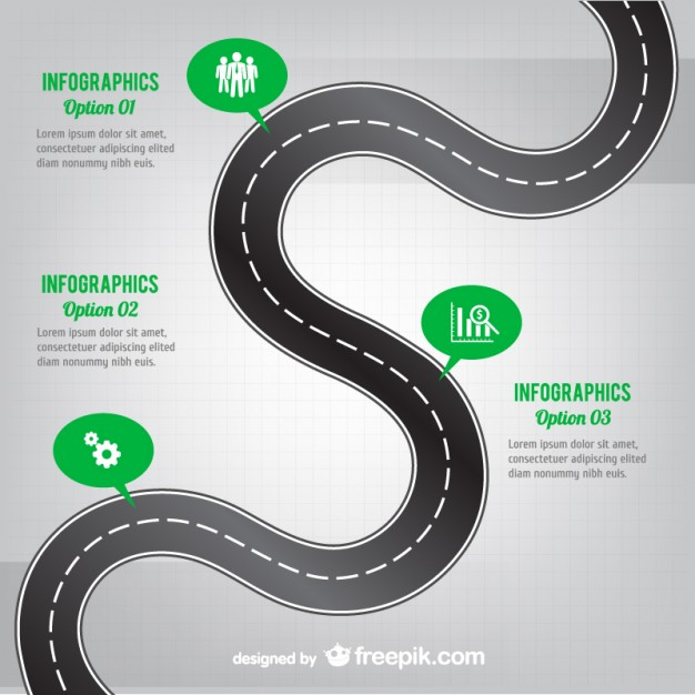 Winding Road Infography Free Vector