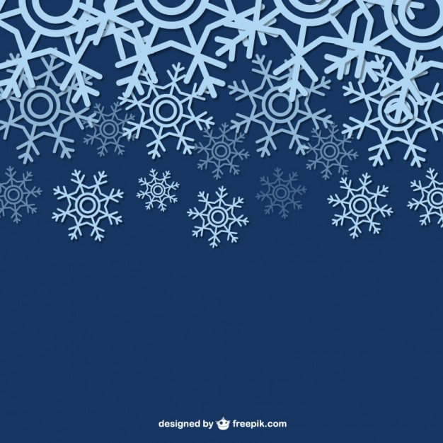Winter Background with Snowflakes Free Vector