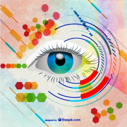 Woman Eye Art Free Vector