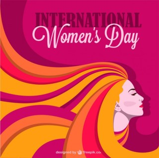 Woman's Day Design Free Vector
