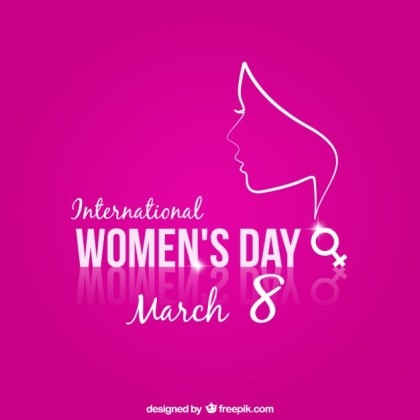 Women's Day Pink Background Free Vector