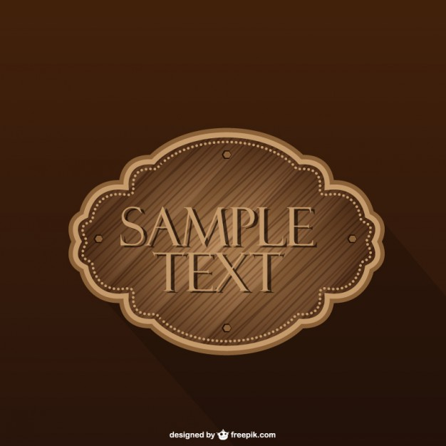 Wood Label Free Vector