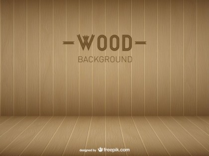 Wooden Room Template Free Vector