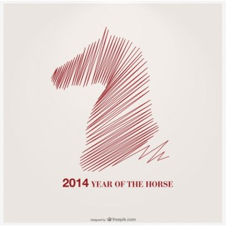 Year of The Horse Design Free Vector
