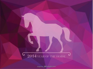 Year of The Horse Triangle Ai Design Free Vector
