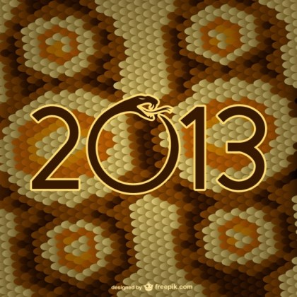 Year of The Snake Skin Free Vector