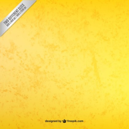 Yellow Background in Grungy Style Free Vector