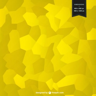 Yellow Mosaic Background Design Free Vector