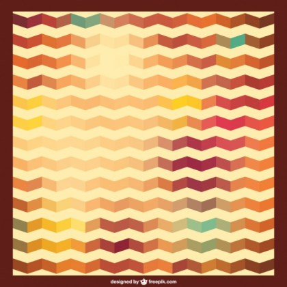 Zig Zag Retro Background Pattern Free Vector