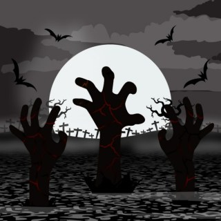Zombie Hands Rise in Halloween Free Vector