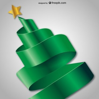 3D Abstract Christmas Tree Free Vectors