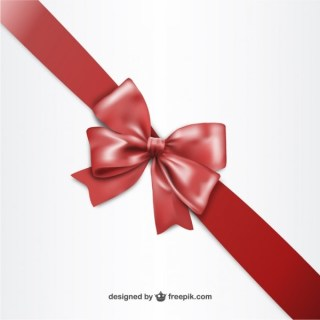 3D Red Ribbon For Black Friday Free Vectors